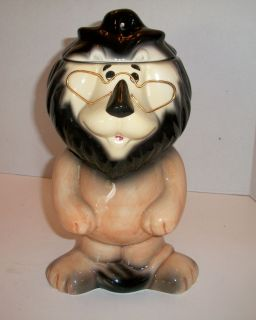 HUBERT THE LION from HARRIS TRUST & SAVINGS BANK COOKIE JAR Glasses