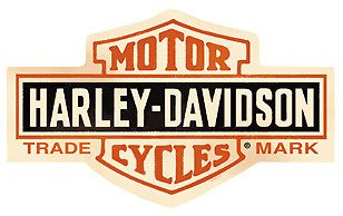 Harley Davidson Bar Shield Die Cut Tin Sign 2010131