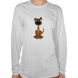 AB  Cute Puppy Dog Cartoon Shirt