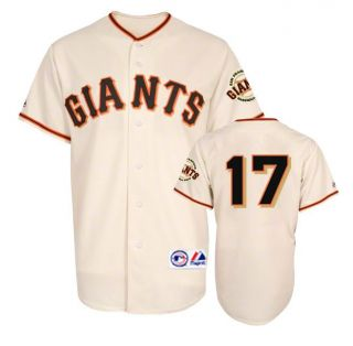 2012 Aubrey Huff San Francisco Giants Cream Home Jersey w Patch Mens