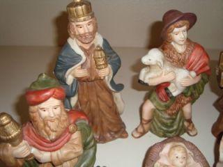 Piece Porcelain Nativity Set No Box Excellent Condition