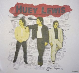 HUEY LEWIS AND THE NEWS Vintage CONCERT SHIRT 80s Tour T RARE ORIGINAL