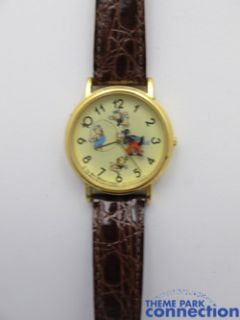Disney Three Little Pigs Huff Puff Big Bad Wolf Rotating Vintage Watch
