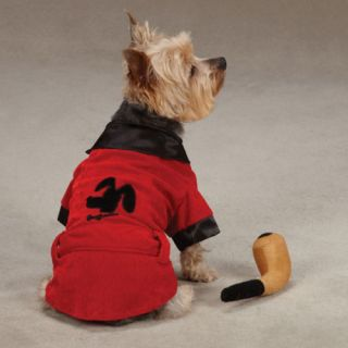 Casual Canine Hugh Hefner Dog Costumes Party Hounds Smoking Jacket
