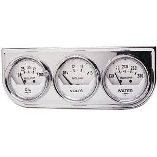 Auto Meter 2325 Auto Gage Black 2 1/16 Mechanical Three Gauge Console