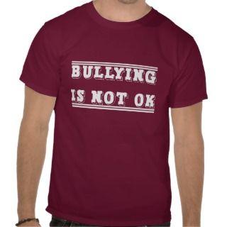 Bullying Is Not Ok (red white yellow) Tee Shirt
