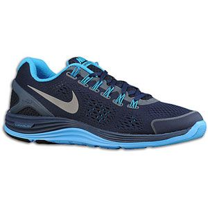 Nike LunarGlide+ 4   Mens   Running   Shoes   Midnight Navy/Blue Glow