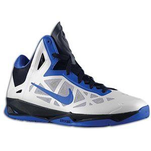 Nike Zoom Hyperchaos   Mens   Basketball   Shoes   White/Game Royal