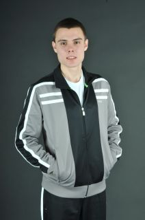 Hugo Boss Green Label Mens Skaz 2 Sweatsuit in Black White Grey