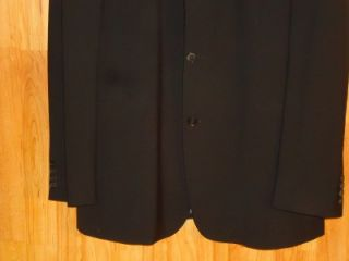 Hugo Boss Scorsese Movie Wool Mens Black 3 Button Suit Blazer Size 50L