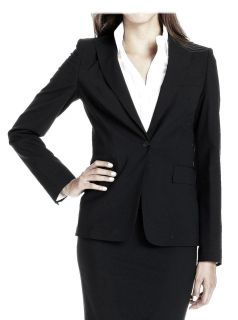 Hugo Boss Black Wool Business Blazer Juicy Jacket Size 2 Brand New $