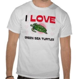 Love Green Sea Turtles Tshirt