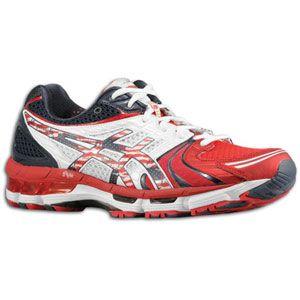 ASICS® Gel   Kayano 18   Mens   Running   Shoes   Red/White/Blue