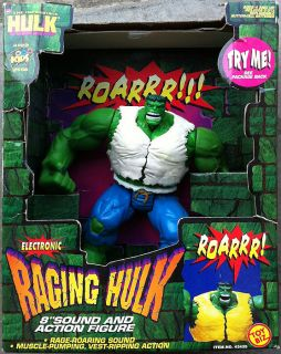 Hulk Raging Electronic 8 Action Figure The Incredible Electronic Toy