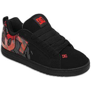 DC Shoes Court Graffik SE   Mens   Skate   Shoes   Black/Rich Red