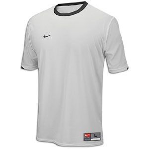 The Nike Tiempo Jersey is a short sleeve, crewneck, game day jersey