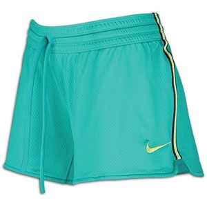 Nike Zig Zag Short   Womens   Training   Clothing   New Green/White