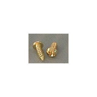 200 Brass Plated No 4 Phillips Round/Pan Head Screws 3/8 Inch Long