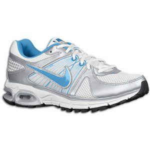 Nike Air Max Moto + 9   Womens   White/Metallic Silver/Black/Blue