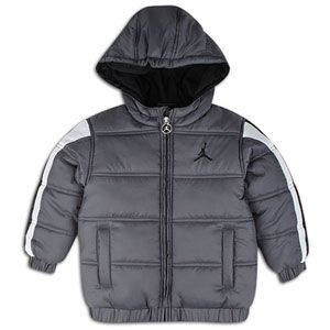 Jordan Nylon Puffer Jacket   Boys Grade School   Dark Grey/Black