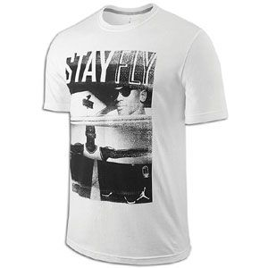 Jordan Stay Fly T Shirt   Mens   Basketball   Clothing   White/Black