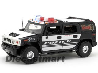 Jada Heat 1 24 Hummer H2 2011 Fat Tires Police White