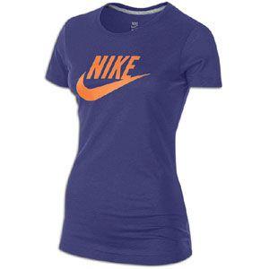 Nike Logo S/S T Shirt   Womens   Casual   Clothing   Court Purple