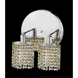 Mini 2 Light Round Wall Sconce in Chrome with Round Canopy