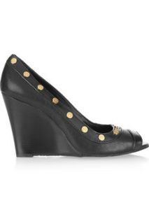 Tory Burch Nelson Stud leather wedges   55% Off