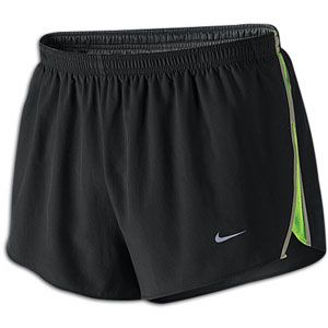 Nike Fundamental 2 Split Short   Mens   Black/Electric Green/Silver