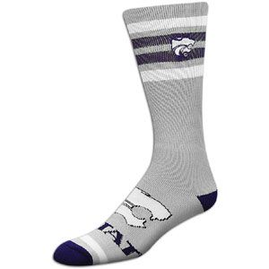 For Bare Feet College Crew Sock   Mens   Kansas State Wildcats   Grey