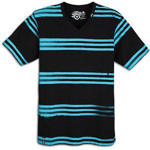 LRG Freak A Streak V Neck Knit Tee   Mens   Skate   Clothing   Black