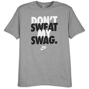 Nike Graphic T Shirt   Mens   Casual   Clothing   Heather Grey/White