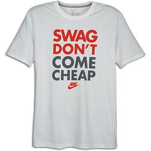 Nike Graphic T Shirt   Mens   Casual   Clothing   White/Crimson/Grey