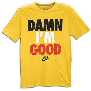 Nike Graphic T Shirt   Mens   Casual   Clothing   Yellow/Black/White