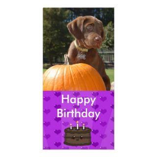 Tarjeta de la foto de la torta de cumpleaños del c tarjetas con fotos