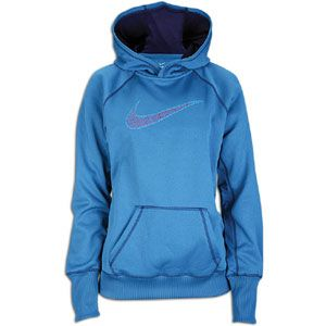 Nike All Time Swoosh Out Hoodie   Womens   Shaded Blue/Night Blue