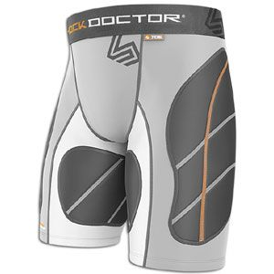 Shock Doctor Ultra Padded Catchers Slider   Mens   Grey/White/Grey