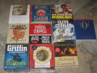 Lot of 10 New audiobooks Mystery Historical fiction fantasy bio humor