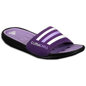 adidas Climacool Chill Recovery Slide   Womens   Black/Power Purple