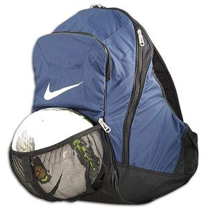 Nike Team Nutmeg Backpack   Soccer   Accessories   Midnight Navy/Black