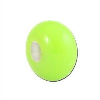 10mm Green Rondelle Glass Beads   Large Hole Jewelry
