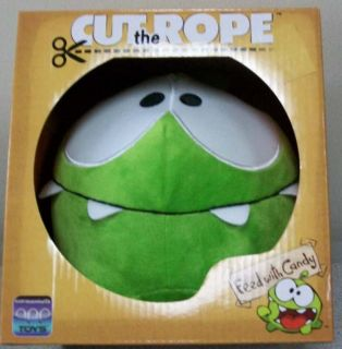SET OF 2 CUT THE ROPE HAPPY FACE & HUNGRY FACE OM NOM 8 PLUSH NEW IN