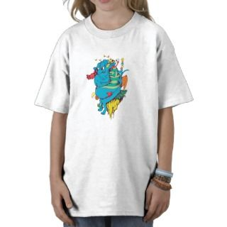 Monster and Friends on a Cliff   Groovy Man T shirts