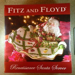 BRAND NEW IN BOX FITZ FLOYD RENAISSANCE SANTA CHRISTMAS PLATE PLATTER