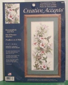 Dimensions Hummingbirds and Nest Counted Cross Stitch Kit