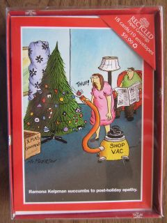 Humorous Woman ♦ 18 Chrismas Cards ♦ Recycled Paper Greeings