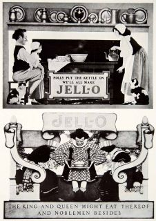 Advertisement Jello Maxfield Parrish King Queen Figures Royalty Noble