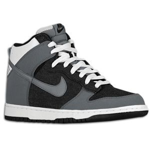 Nike Dunk High   Mens   Basketball   Shoes   Black/Cool Grey/White