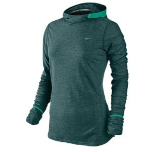 Nike Dri Fit Soft Hand Hoodie   Womens   Dark Atomic Teal/Atomic Teal